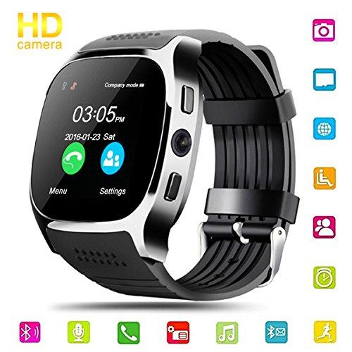 Smart Watch Uhr, Hizek Intelligente Armbanduhr Fitness Tracker Armband mit Kamera SIM Karte Touchscreen Telefon Kompatible für Smartwatch Android und IOS
