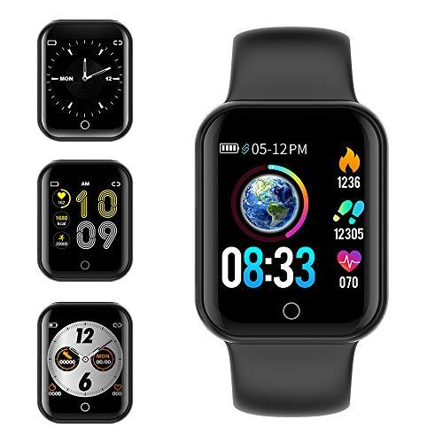 KUNGIX Smartwatch, Fitness Armband Uhr mit Blutdruckmessung IP68 Wasserdicht Smart Watch Mit Pulsmesser Schlafmonitor Schrittzähler Kalorienzähler Armbanduhr für Kinder Damen Herren
