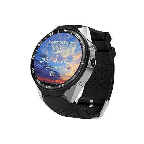 Gps-Navigation Herzfrequenz 3G-Karte Hd-Kamera-Bildschirm Smart Watch Telefon Unterstützt Eine Vielzahl Von Sprachen , silver black