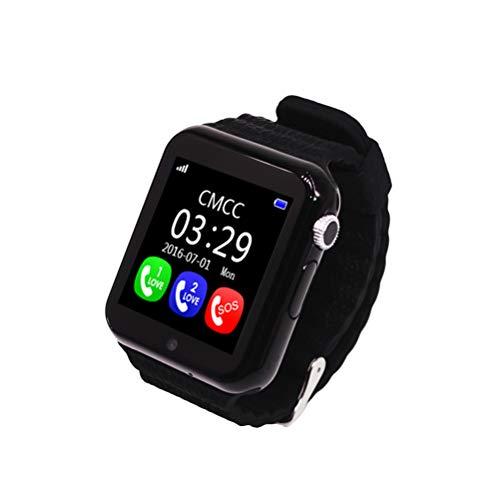 NICERIO Smartwatch,V7K GPS Bluetooth Smart Uhr für Kinder Jungen Mädchen Safe Anti-Lost Monitor (Schwarz)