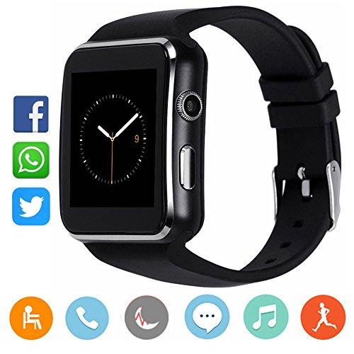 CanMixs Bluetooth Smart Watch mit Kamera, CM03 Touchscreen Smart Armbanduhr mit SIM-Kartensteckplatz, entsperrt wasserdicht Fitness Activity Tracker Sportuhr für IOS Android Samsung Männer Frauen