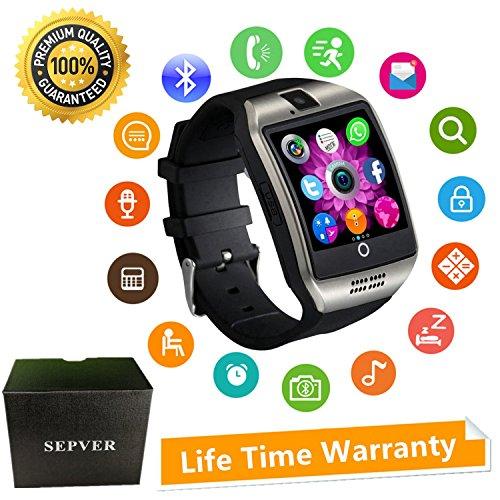 Smartwatch Smart Watch mit Kamera Touchscreen SIM Card Slot Facebook Whatsapp Schrittzähler Fitness Tracker Intelligente Armbanduhr Kompatibel ios iPhone Android Damen Herren Kinder (Silber)
