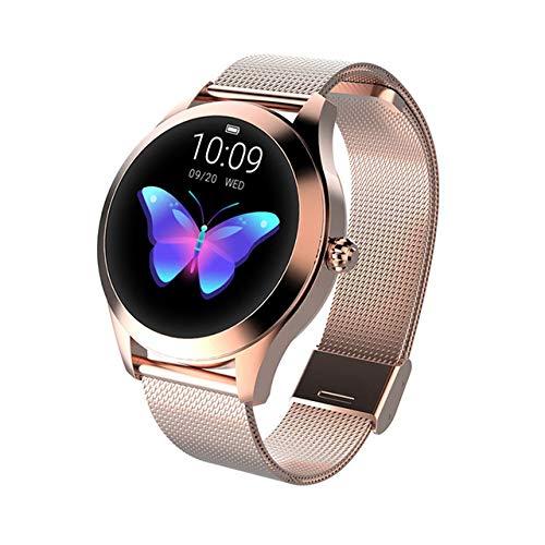 LYA Mode Smart Watch Frauen KW10 IP68 wasserdichte Multi-Sport-Modi Pedometer Herzfrequenz Fitness Armband Für Dame Girl,B