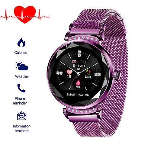 XinXu Fitness Tracker, Smartwatches Farbdisplay Activity Tracker Fitnessuhr mit Pulsmesser, Damen Blutdruck Sport Smart Armbanduhr Schrittzähler Call and Message Reminder